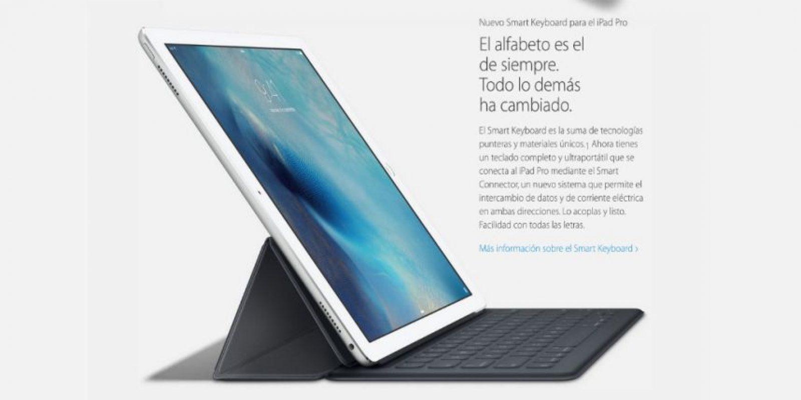"""La web """"Hipertextual"""" definió así el nuevo iPad: """"La mejor forma de describir el primer contacto con el iPad Pro es como si tomaras en tus manos la pantalla de un MacBook Air, sin el teclado"""" Foto:Apple"""