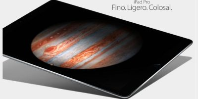 Además, la clara intensión de competencia con la Surface de Microsoft hico crear un teclado especial para esta tableta Foto:Apple