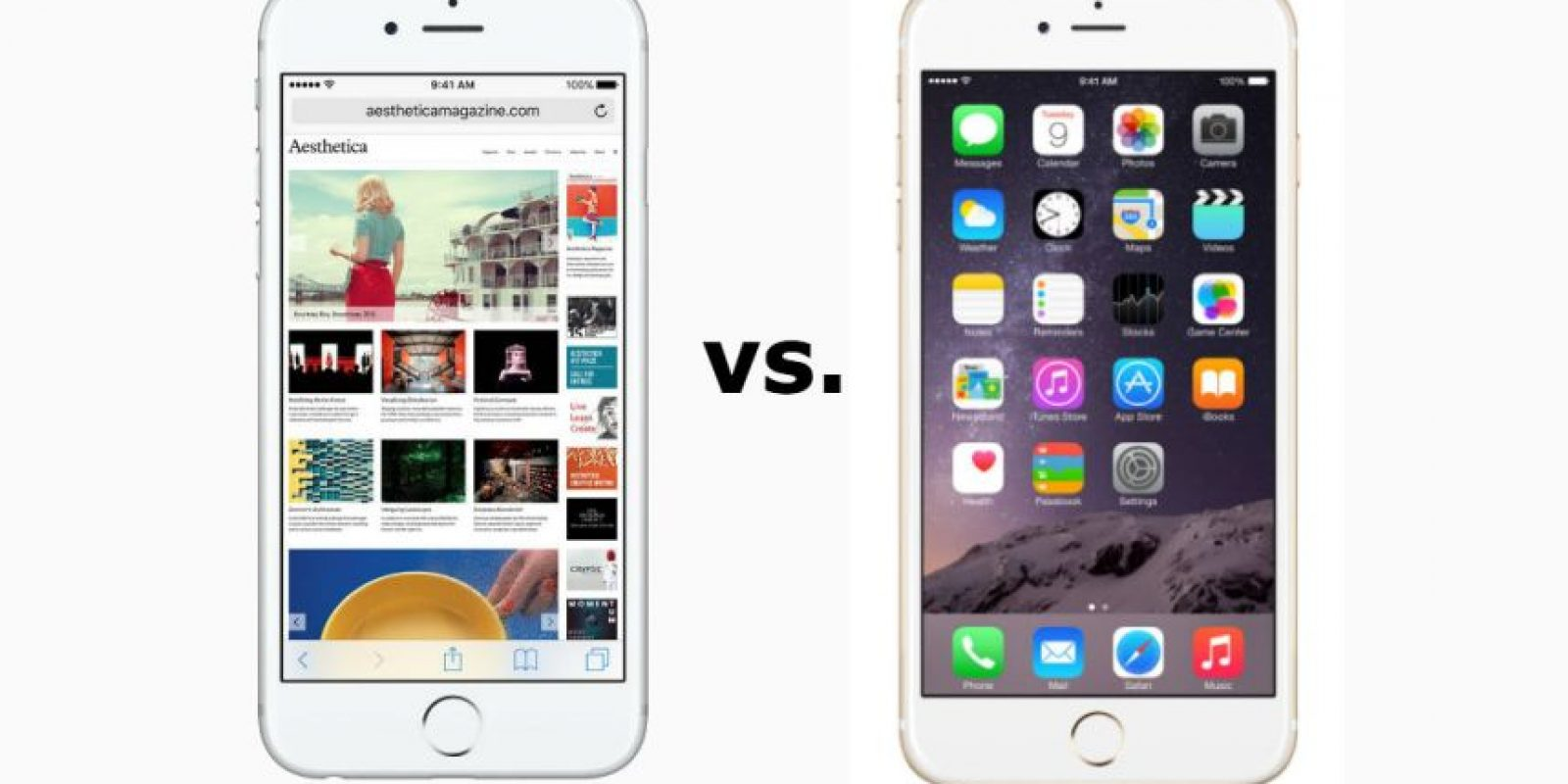 iPhone 6 y iPhone 6s frente a frente. Foto:Apple