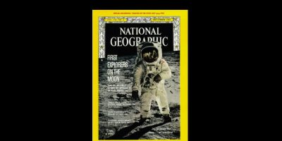 Diciembre 1969. La famosa foto de Neil Armstrong, ilustro la portada cinco meses después del viaje a la luna. Foto:Vía nationalgeographic.com