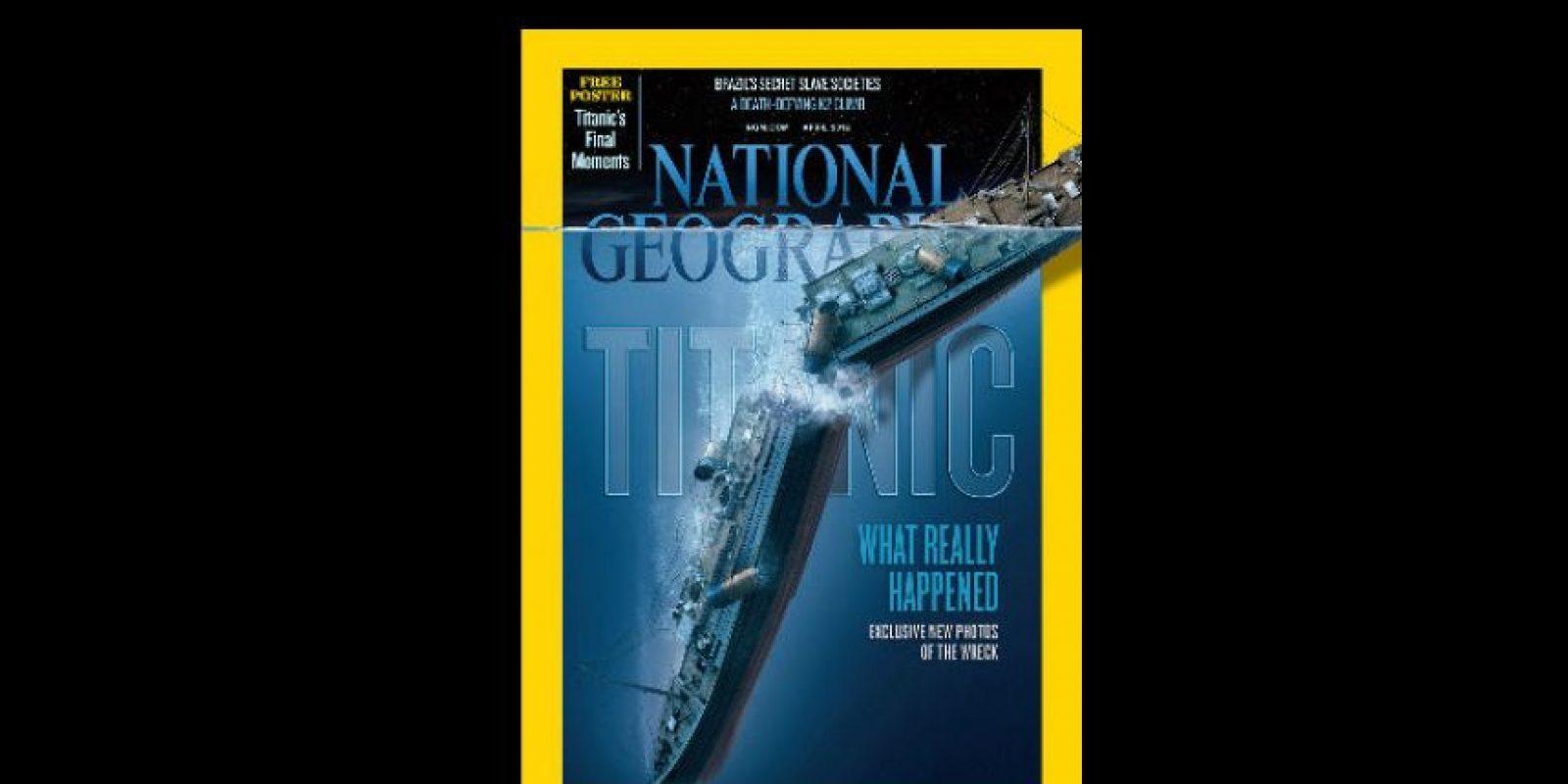 Abril 2012. National Geographic recrea la escena del hundimiento del Titanic. Foto:Vía nationalgeographic.com