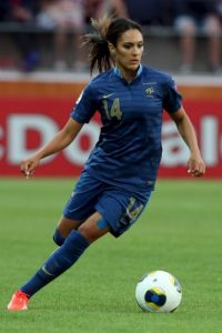 La francesa es mediocampista del Olympique de Lyon Foto:Getty Images