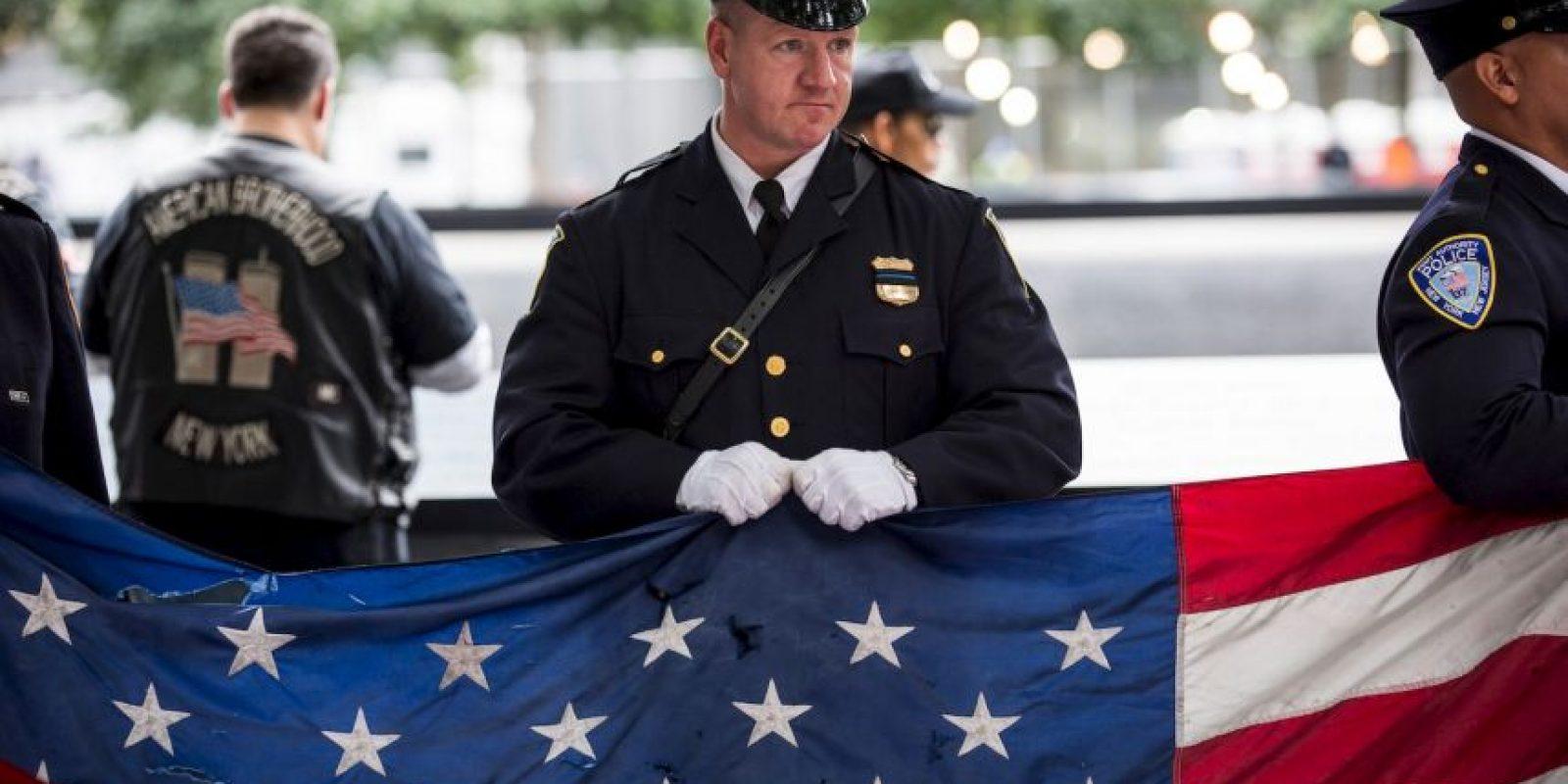 Homenaje de la Policía de Nueva York. Foto:Getty Images