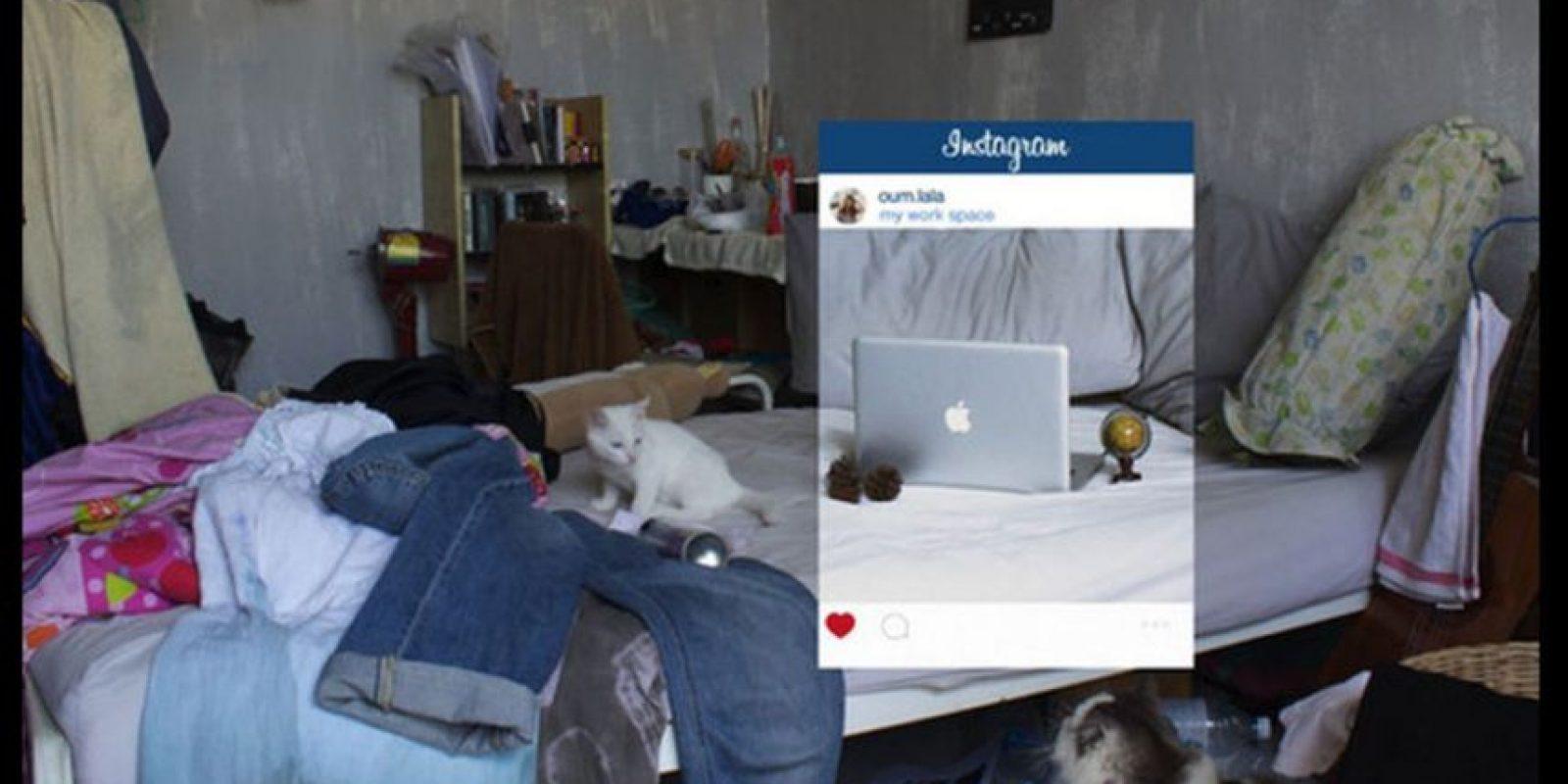 Esta es la realidad de la foto Foto:facebook.com/chompoo.baritone