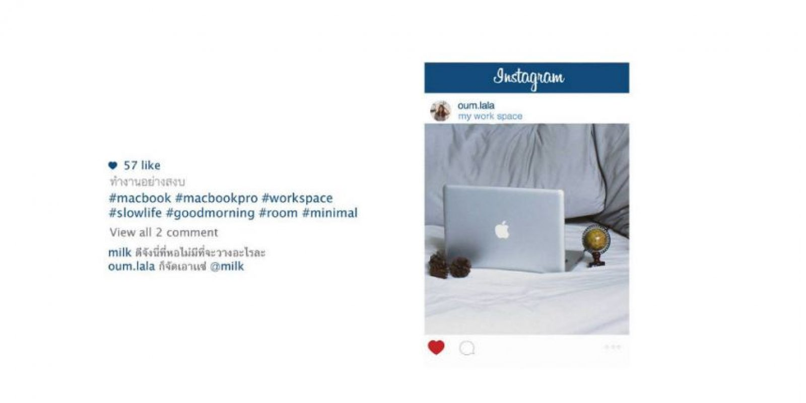 Lo que ven en Instagram Foto:facebook.com/chompoo.baritone