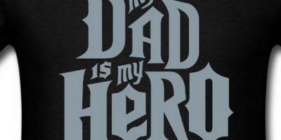 """""""Mi papá es mi héroe"""". Diseño con la tipografía de """"Guitar Hero"""" Foto:Vía """"gameinformer.com"""""""