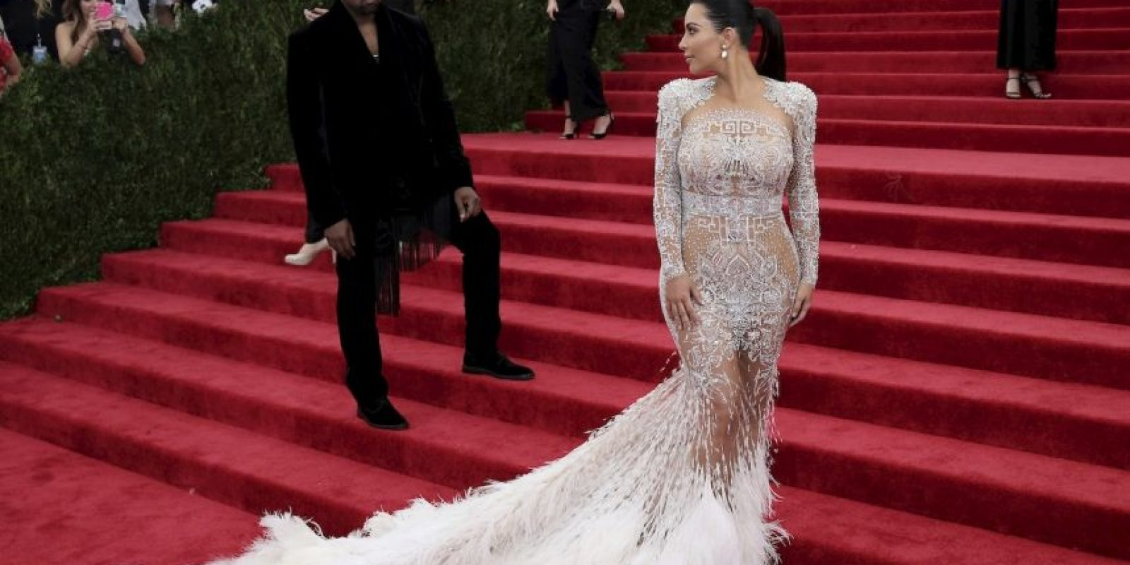 Y en una gala acompañando a Kim. Foto:Getty Images