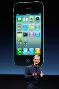 Tim Cook, actual CEO de Apple, presentó el iPhone 4s el 4 de octubre de 2011 Foto:Getty Images