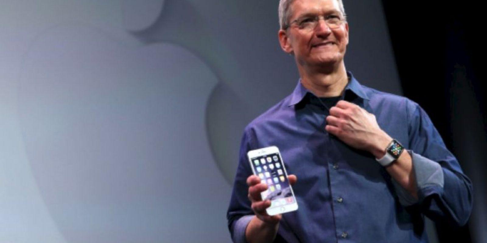 Tim Cook presentó el iPhone 6 y iPhone 6 Plus el 9 de septiembre de 2014 Foto:Getty Images