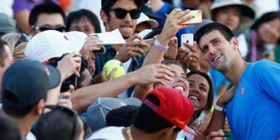 """Su apodo, """"The Joker"""", (El Guasón en Batman), se lo puso el propio público gracias a las divertidas imitaciones de sus colegas tenistas, lo cual no a todos le agradó. Foto:Getty Images"""