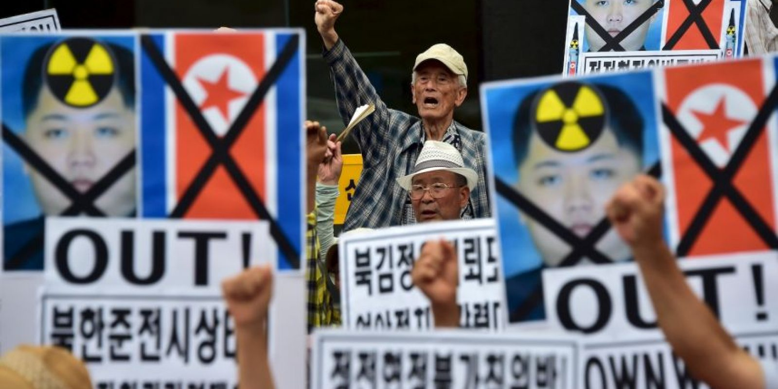En Corea del Sur hubo protestas Foto:AFP