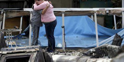 Hombre graba su escape del incendio forestal en California