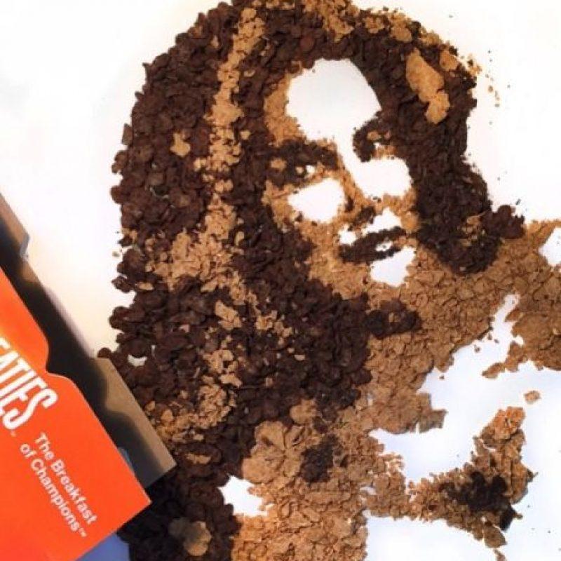 .- La artista Jessie Bearden la dibujó con un poco de café y cereal. Foto:vía instagram.com/jessiebearden