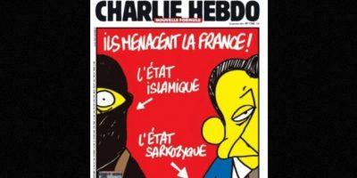 Y el expresidente Nicolás Sarkozy Foto:Vía: www.facebook.com/CharlieHebdoOfficiel