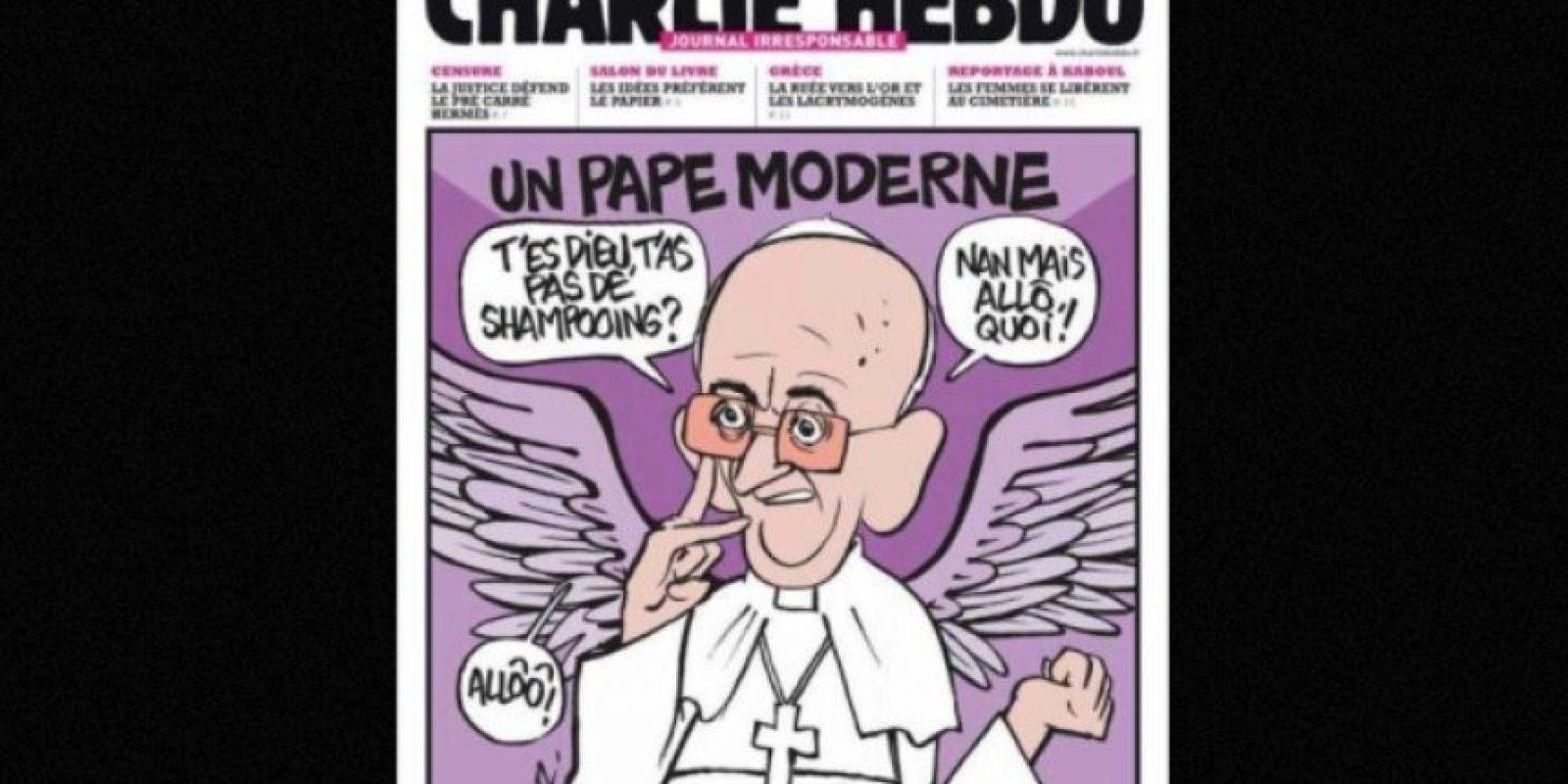 Algunas hacían referencia a líderes mundiales, como el Papa Francisco Foto:Vía: www.facebook.com/CharlieHebdoOfficiel