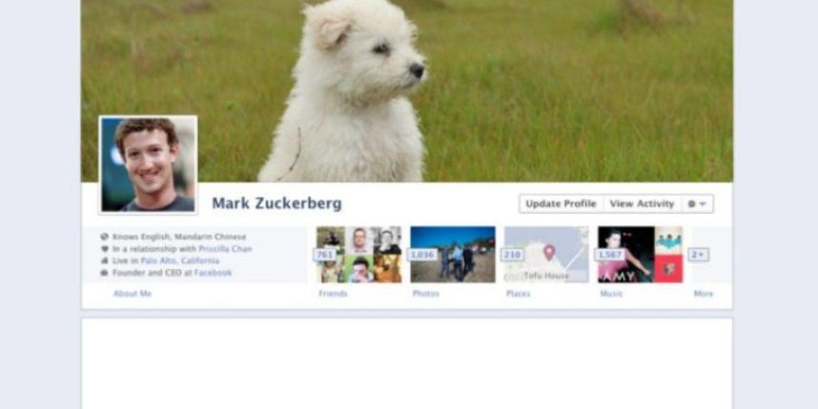 2011. El creador de Facebook se da cuenta que a los usuarios les encantan las imágenes y aparecen en diferentes formas. Foto:Facebook.com
