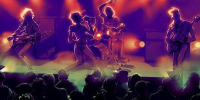 Bajo, batería, micrófono y guitarra serán los instrumentos disponibles. Foto:Harmonix