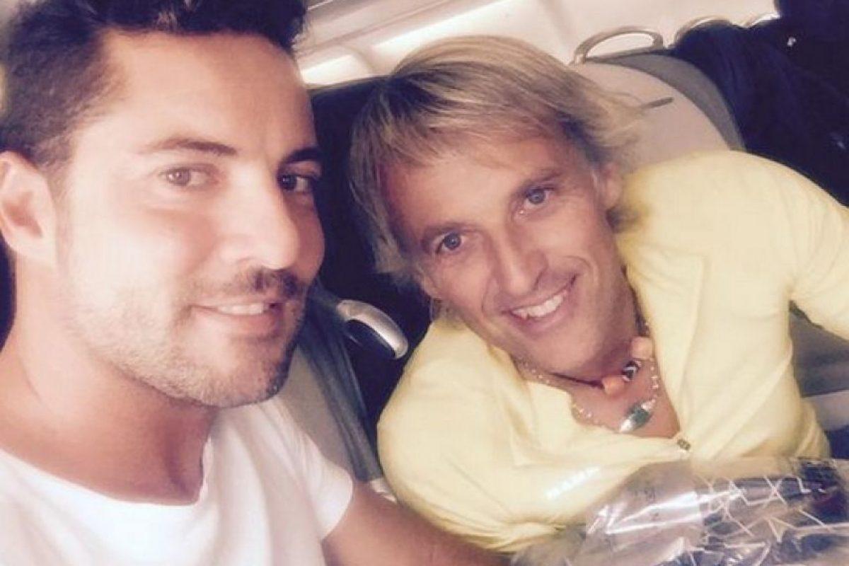 David Bisbal viajó junto a su amigo montañista Jesús Calleja. Foto:Twitter/DavidBisbal