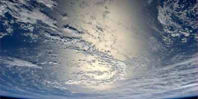 Desde el espacio se podían ver partes de la Tierra. Foto:Getty Images
