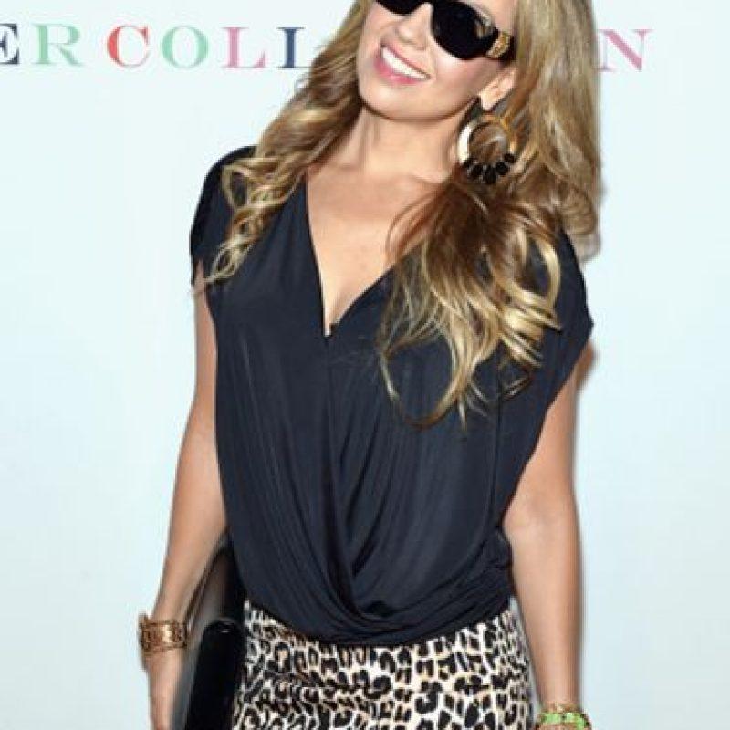 Así se presentó Thalía a la Semana de la Moda de Nueva York. Foto:vía Getty Images