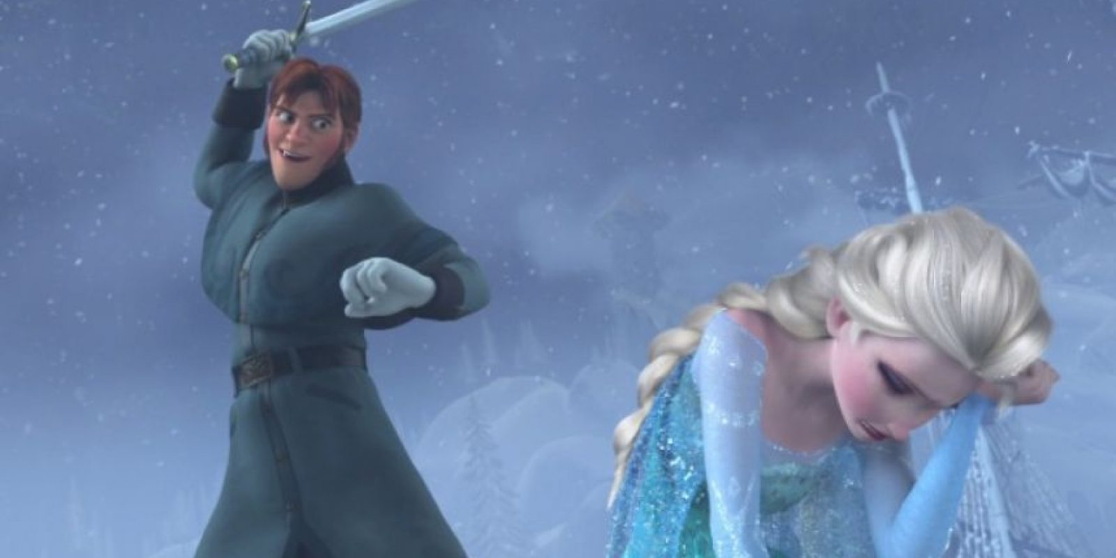 """""""El intento de asesinato del príncipe 'Hans' para con la reina 'Elsa' se realizó en nombre de la nación de 'Arendelle', que ciertamente hubiera sufrido una inmensa pérdida y pérdidas económicas si el invierno se hubiera prolongado aún más"""". Foto:vía facebook.com/DisneyFrozen"""