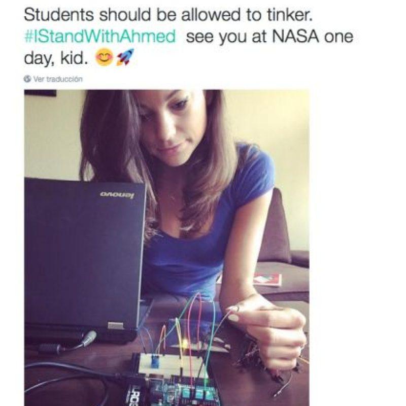 """""""Nos vemos en la NASA algún día"""" Foto:Twitter.com"""