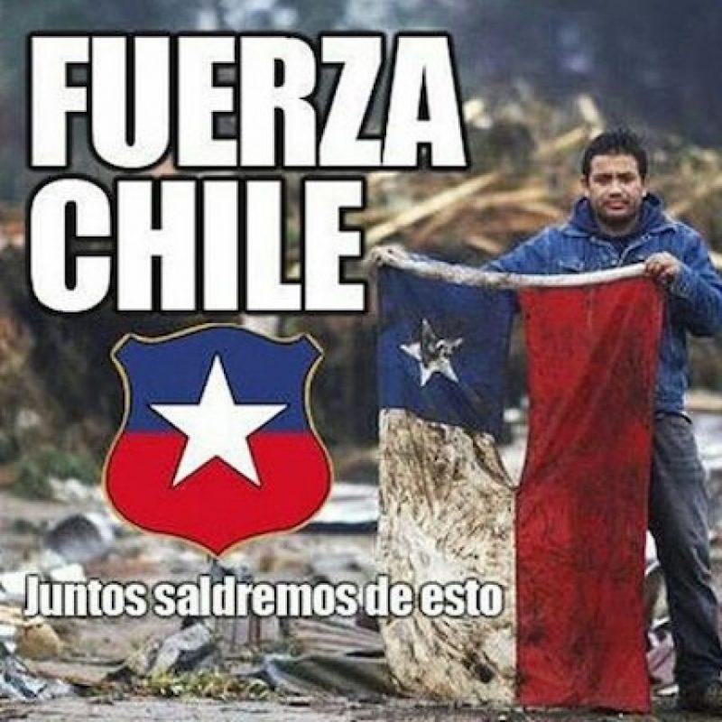 También, fotos de otros desastres naturales que ha padecido Chile Foto:Instagram.com/explore/tags/fuerzachile/