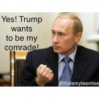 Cuando Trump habló de ser amigo de Vladimir Putin, también se crearon memes Foto:Twitter.com