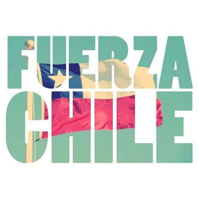 """Una de las frases que se convirtió en trending topic en redes sociales fue """"Fuerza Chile"""" Foto:Instagram.com/explore/tags/fuerzachile/"""