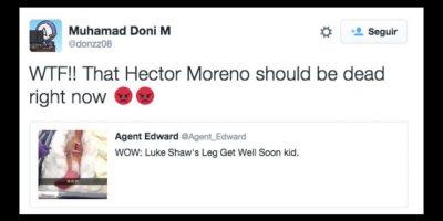 """""""Ese Héctor Moreno debería estar muerto ya"""" Foto:Vía Twitter.com"""