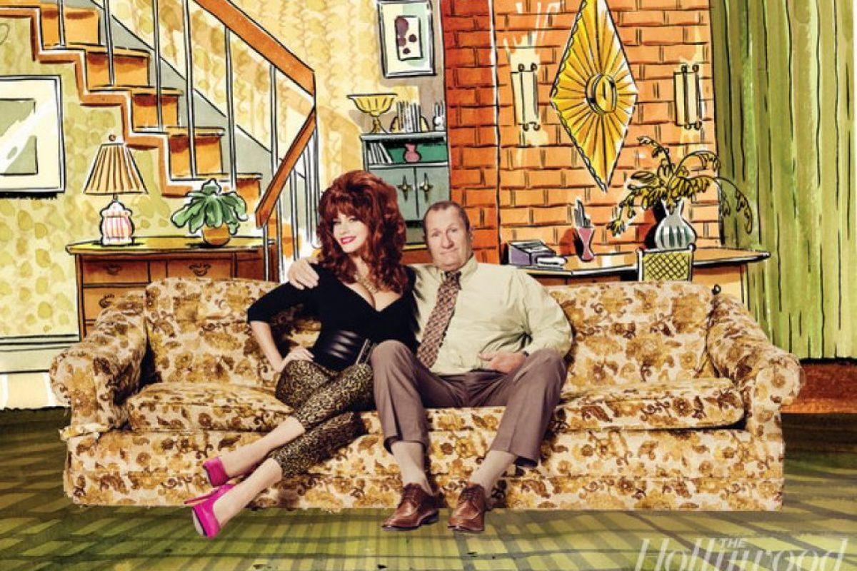 """Sofía Vergara y Ed O'Neill revivieron a los protagonistas de """"Casados con hijos"""" Foto:The Hollywood Reporter"""