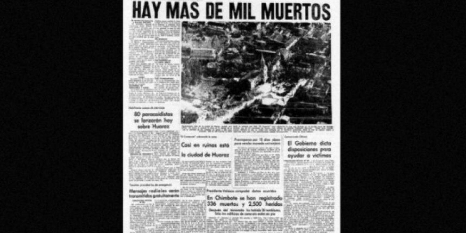 3. 31 de mayo de 1970, Chimbote, Perú: Más de 50 mil personas fallecidas dejó el terremoto con magnitud de 7.9. Foto:Arkivperu.com