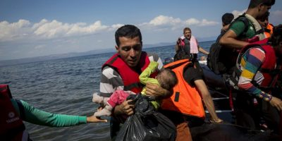 """""""Quedé impactado por cómo están tratando a los migrantes. Esta situación es inaceptable"""", opinó el secretario general de la ONU, Ban Ki-moon. Foto:Getty Images"""