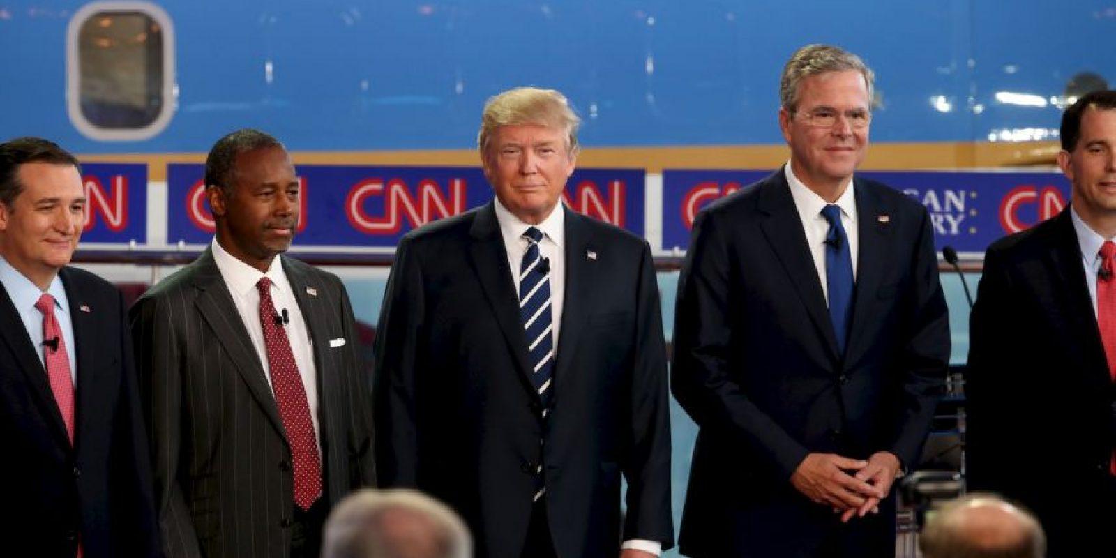 """""""La administración de tu hermano es responsable de que tengamos a Barack Obama de presidente"""", dijo a Jeb Bush Foto:Getty Images"""