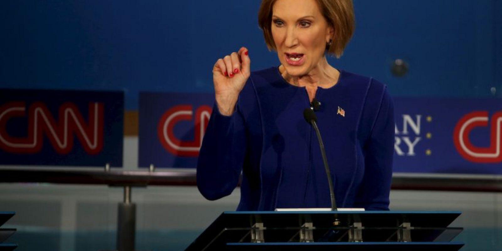 1. Es la única mujer entre los 15 precandidatos del Partido Republicano. Foto:Getty Images