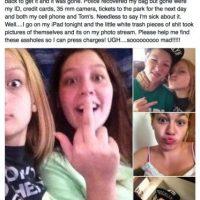 Este grupo de delincuentes se tomaron selfies con el iPhone que robaron y se hicieron virales Foto:facebook.com/kelly.brownjones