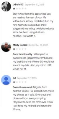 Los usuarios Udhab KC, Marty Ballard, CJ piensan que la app no funciona correctamente Foto:Google Play
