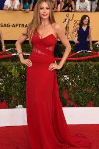 Sofía Vergara con un vestido rojo. Foto:vía Getty Images