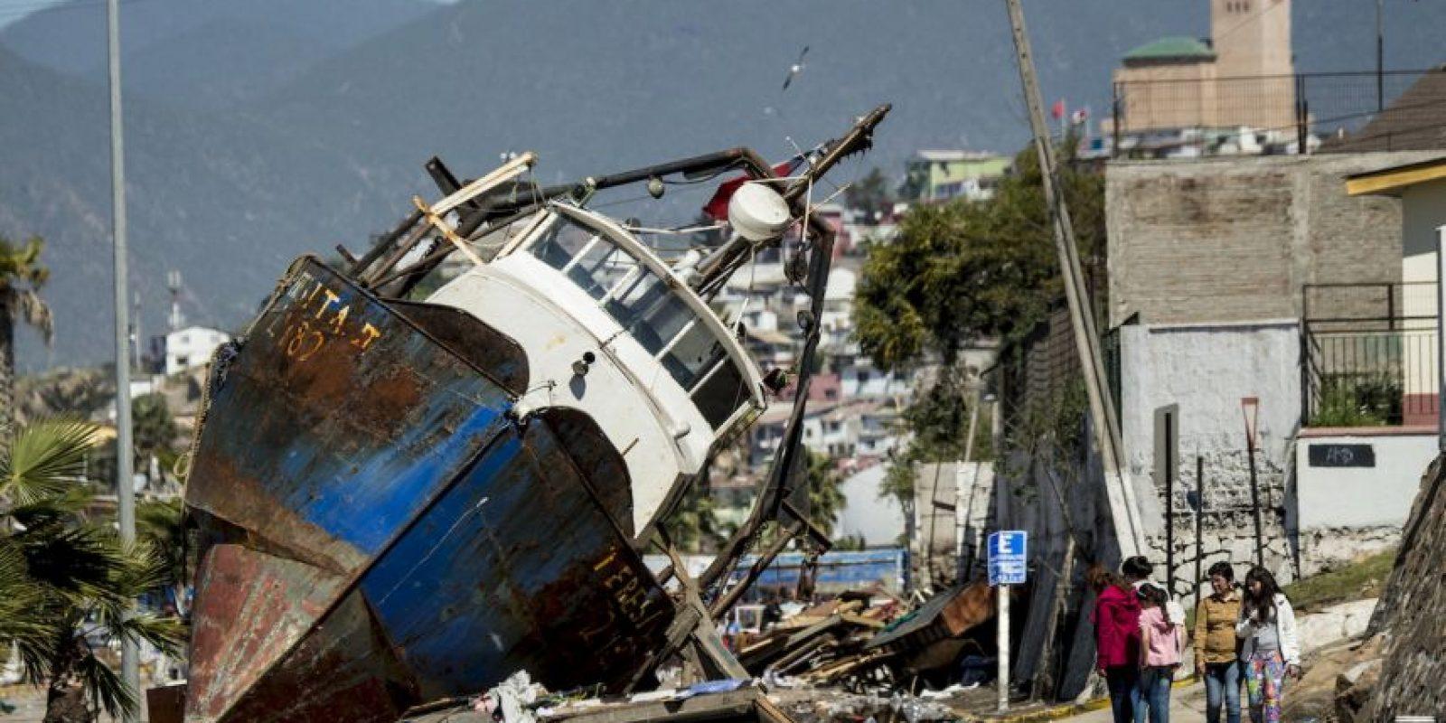 Chile enfrentó este martes un terremoto de magnitud 8.3. Foto:AFP