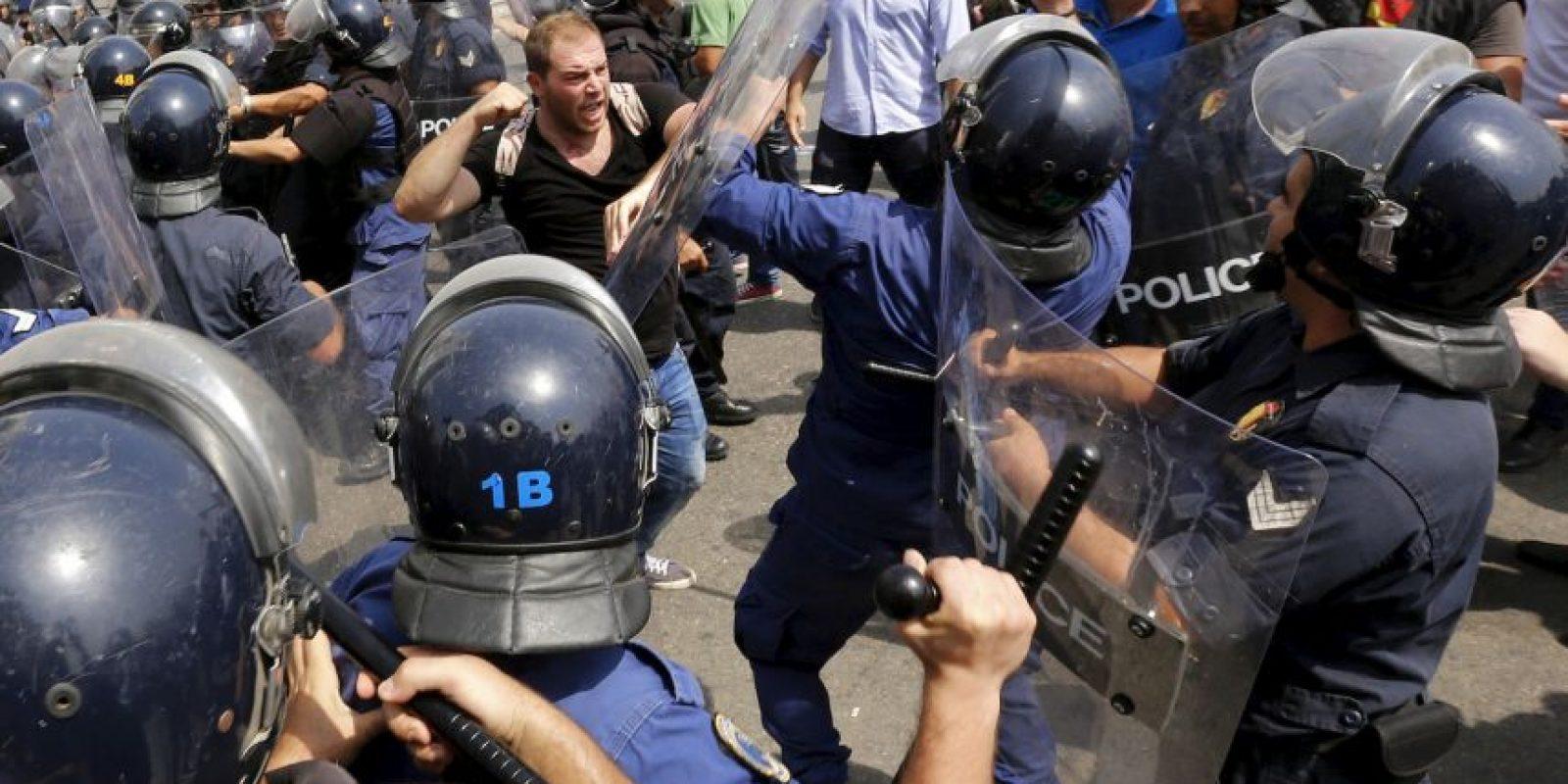 Continúan las protestas en Líbano por la crisis de la basura. Foto:AFP