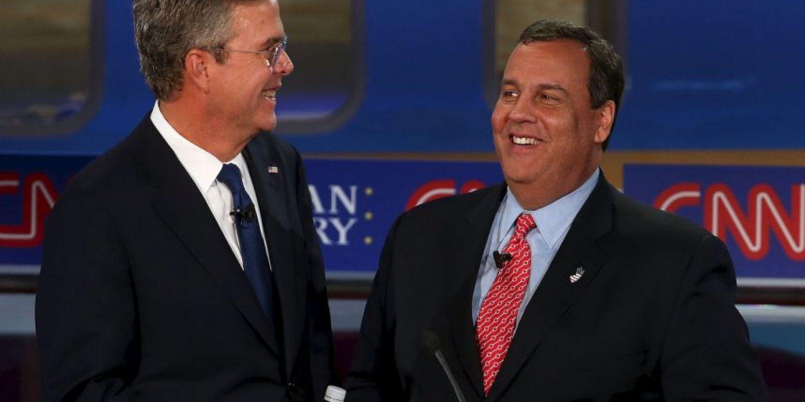 Jeb Bush (izq) y Chris Christie (der) Foto:AFP