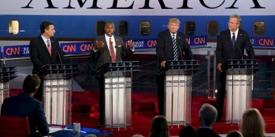La mayoría de los candidatos republicanos se lanzaron contra el multimillonario Donald Trump. Foto:AFP