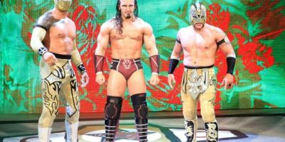 Neville y The Lucha Dragons. Foto:WWE