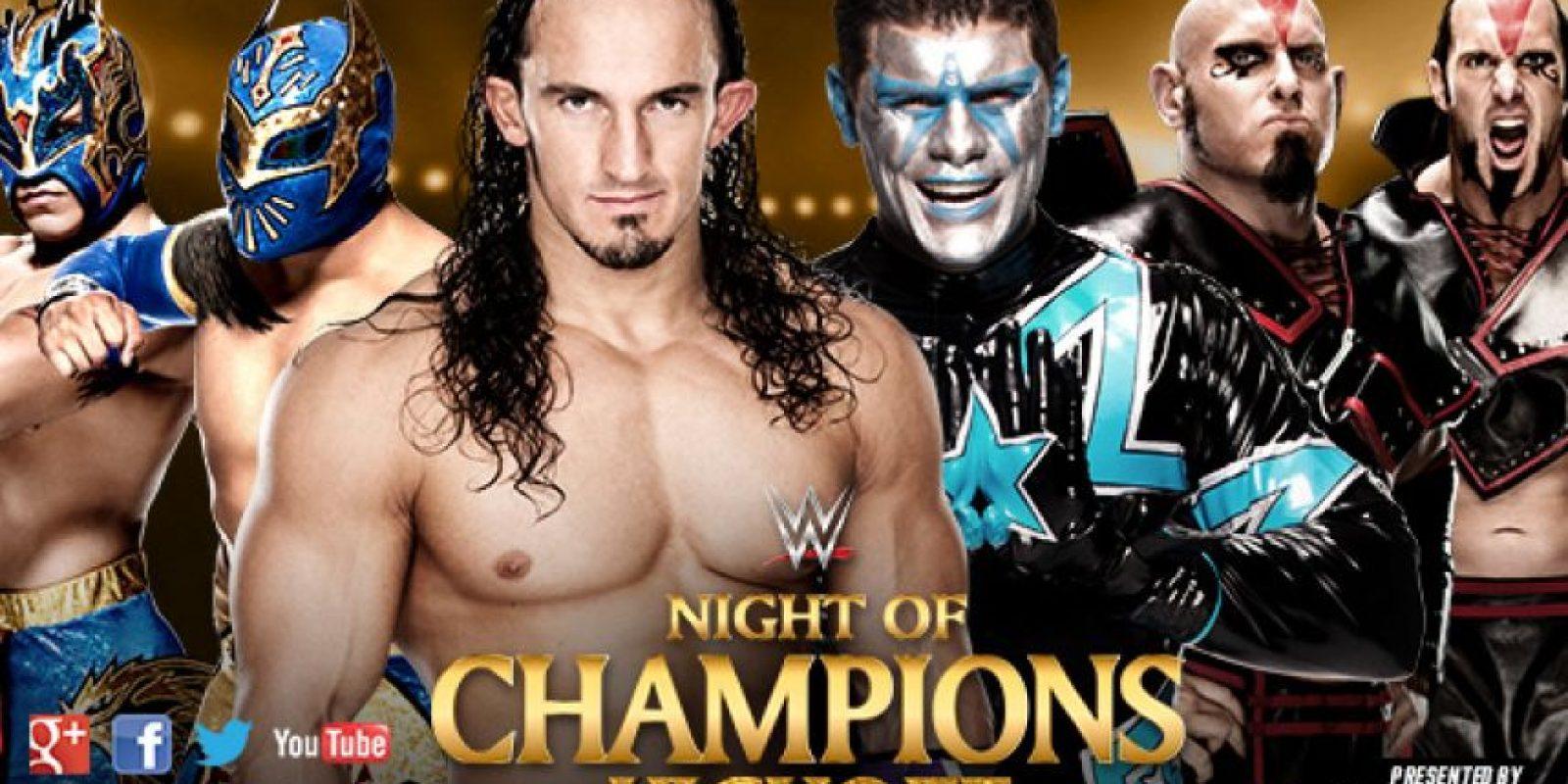 Kick-Off: Neville y The Lucha Dragons (Kalisto y Sin Cara) vs. The Cosmic Wasteland (Stardust y The Ascension [Konnor y Víctor]). Foto:WWE