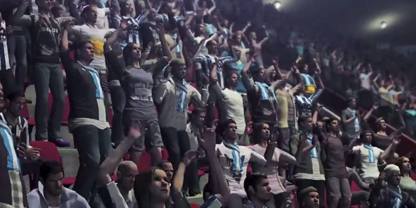 El público festejando los goles de su equipo. Foto:Konami
