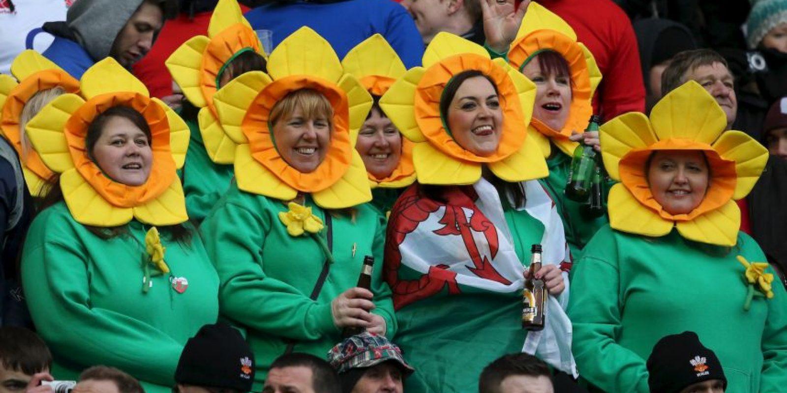 Los seguidores del rugby buscan la originalidad y se llegan a disfrazar para no pasar desapercibidos y mostrarle el apoyo a su equipo. Foto:Getty Images