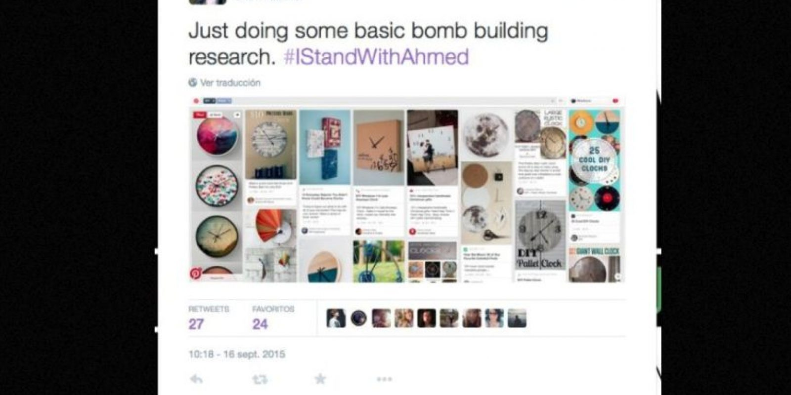 """""""Haciendo una búsqueda básica de como construir una bomba"""", escribió Madison M.K. Foto:vía Twitter"""