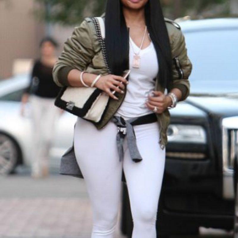Leggings blancos como pantalones para que se vea TODO. No. Foto:vía Getty Images