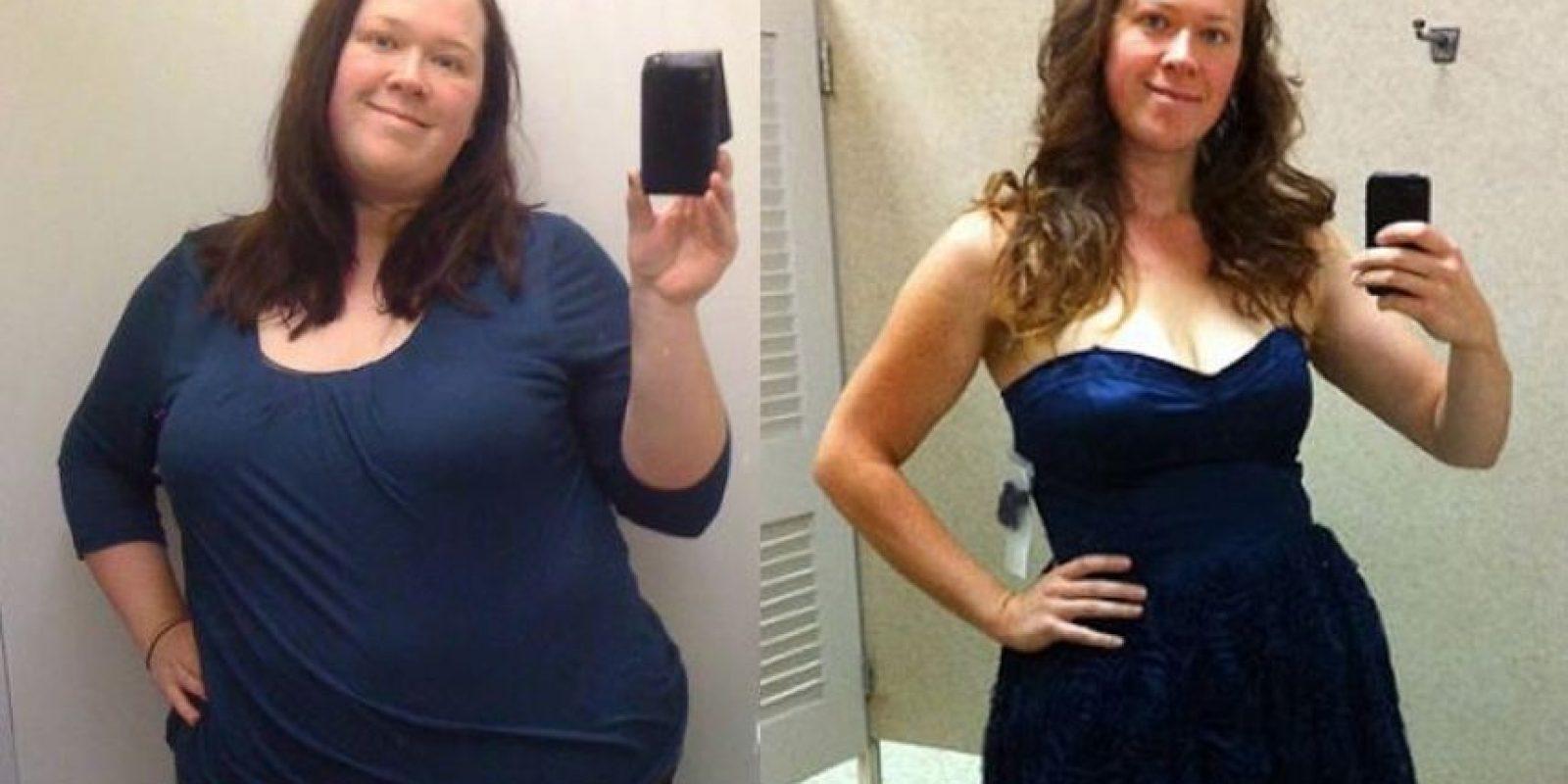 Julia pesando 153 kilos en 2009 y actualmente, pesando 80. Foto: Juliakozerski