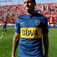 """El """"Apache"""" se hizo figura en el club argentino, equipo donde debutó a los 17 años en 2001. Foto:Getty Images"""